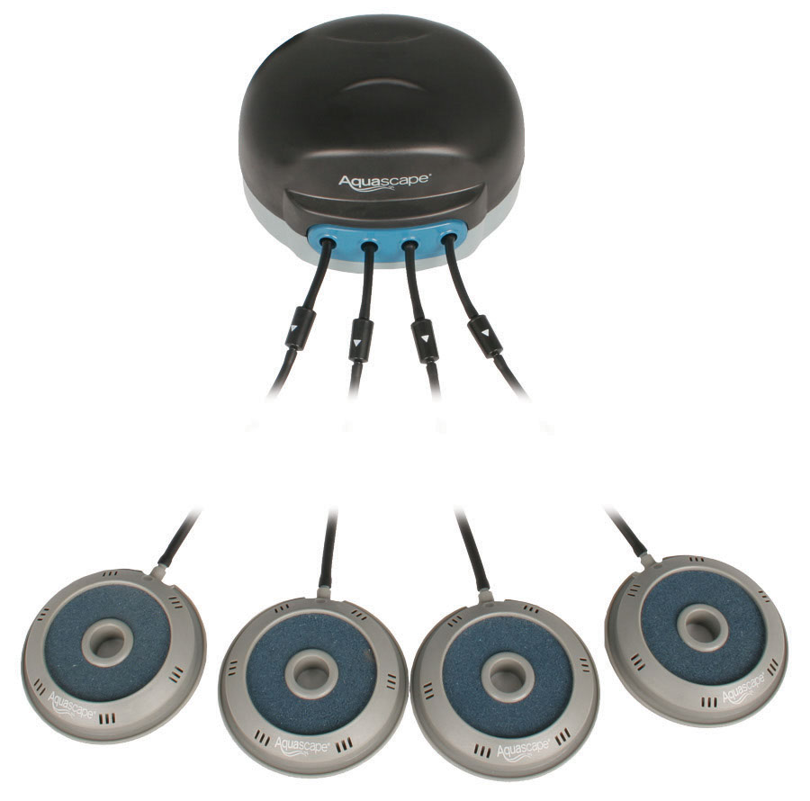 Aquascape 75001 4-Outlet Pond Aerator with Aeration Discs