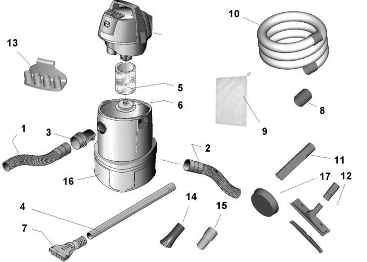 Oase Pondovac 2 Pond Vacuum Replacement Parts