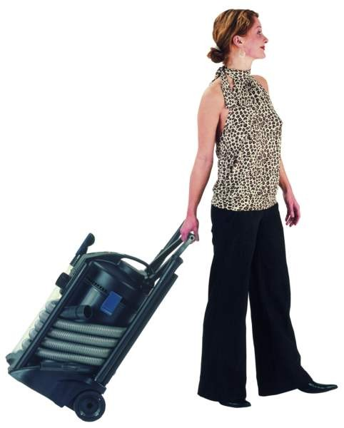 Oase Pondovac 3 Pond Vacuum - Built-in wheels and adjustable handle allow for easy movement and transportation