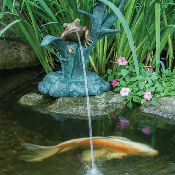Aquascape Fountain: Aquascape Frog On Reed Spitter