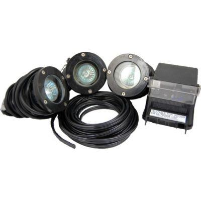 Pond Force Fiberglass 20 Watt Halogen 3 Light Kit