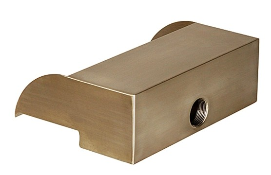 "Atlantic Water Gardens 12"" Stainless Steel Scupper - Rear Entry Port"