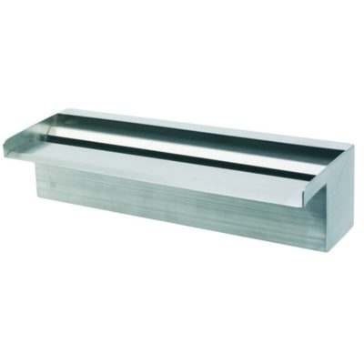 "Calais 12"" Sheer Falls Stainless Steel Waterfall Weir"