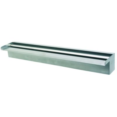 "Calais 24"" Sheer Falls Stainless Steel Waterfall Weir"