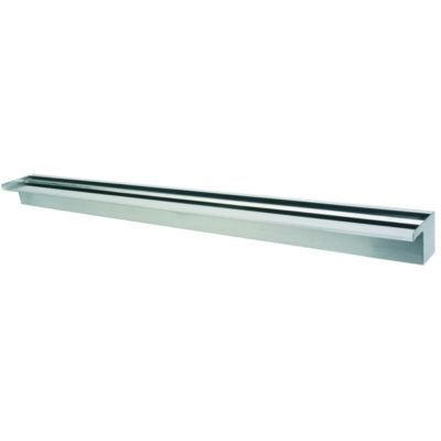 "Calais 48"" Sheer Falls Stainless Steel Waterfall Weir"