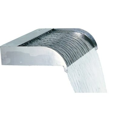 "Calais 12"" Sheer Flow Stainless Steel Waterfall Weir"