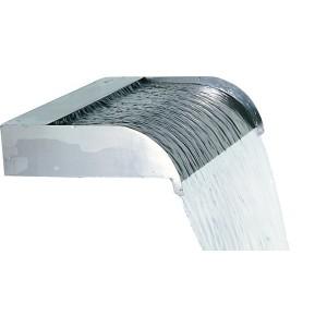 """Calais 24"""" Sheer Flow Stainless Steel Waterfall Weir"""
