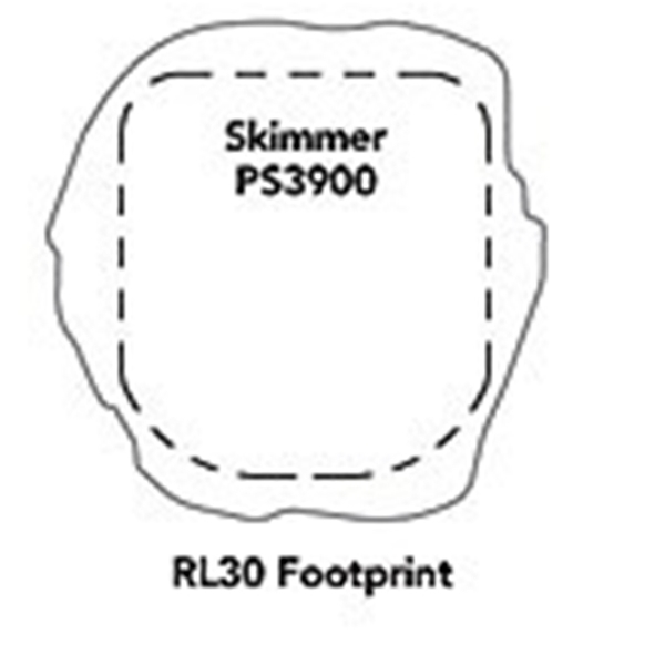 Atlantic Water Gardens RL30 Rock Lid - PS3900 Footprint