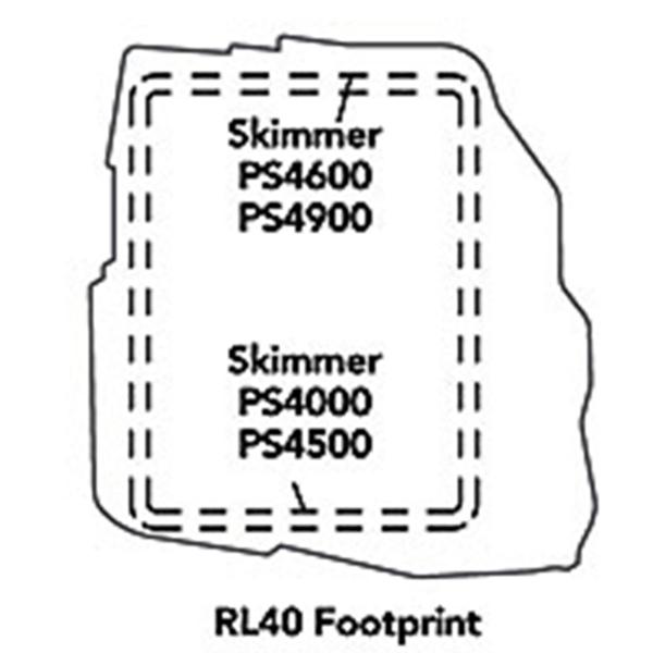 Atlantic Water Gardens RL40 Rock Lid - Footprint