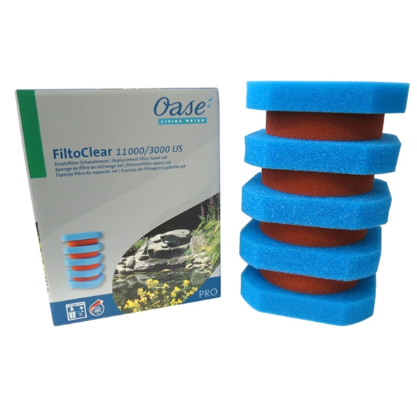 oase filtoclear 3000 replacement foam filter set. Black Bedroom Furniture Sets. Home Design Ideas
