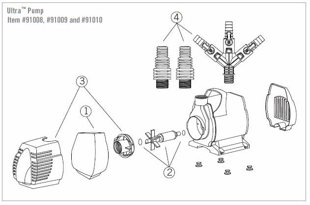 Aquascape Ultra 2000 Replacement Impeller Kit Pondusa Com