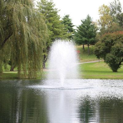 Kasco 4400JF 1 HP Floating Fountain - Birch Fountain Pattern - 11' tall x 8' wide