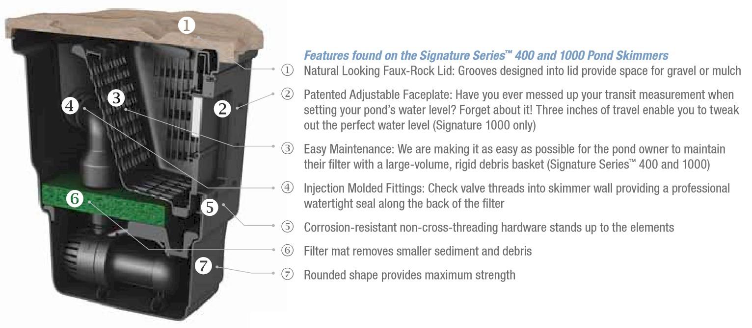 Aquascape Signature Series 1000 Pond Skimmer 1 000 Sq Ft