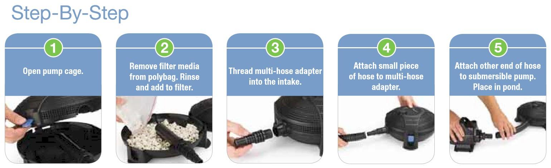 Aquascape Submersible Pond Filter   Setup Instructions