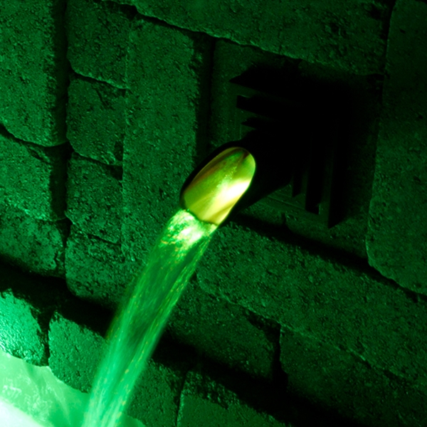 Atlantic Water Gardens Color Changing LED Wall Spout Light 2