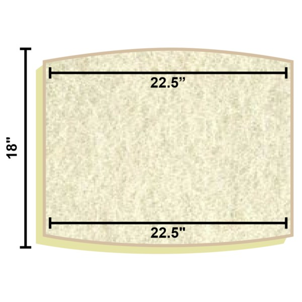 Replacement filter mat 22 5 x 22 5 x 18 for Pond filter mat