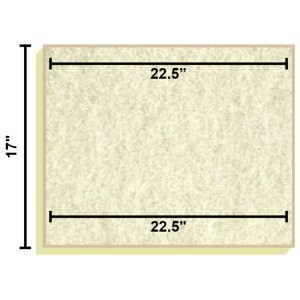 Replacement Filter Mat 22.5 x 22.5 x 17