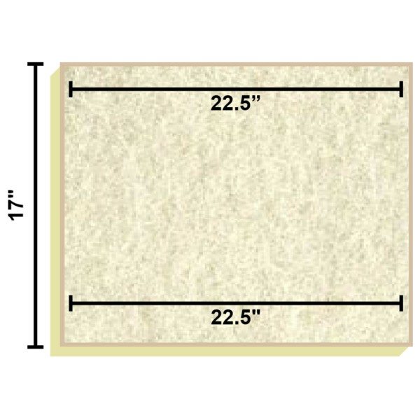 Replacement Filter Mat 22.5 x 22.5 x 17