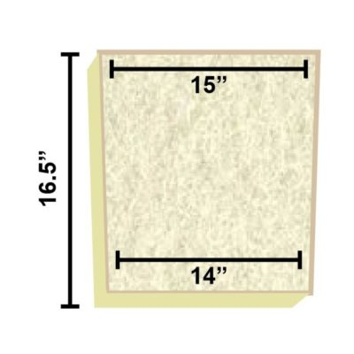 Replacement Filter Mat 15 x 14 x 16.5
