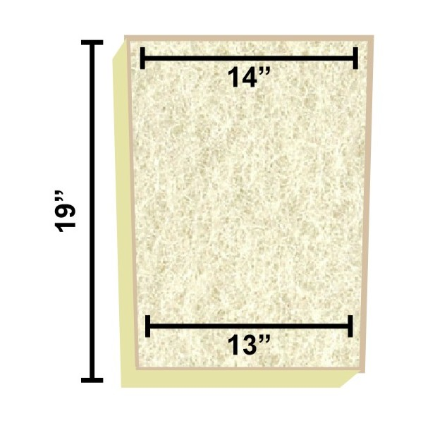 Replacement filter mat 14 x 13 x 19 for Pond filter mat
