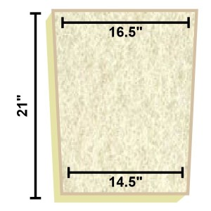 Replacement Filter Mat 16.5 x 14.5 x 21
