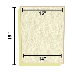Replacement Filter Mat 15 x 14 x 19