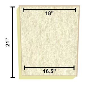 Replacement Filter Mat 18 x 16.5 x 21