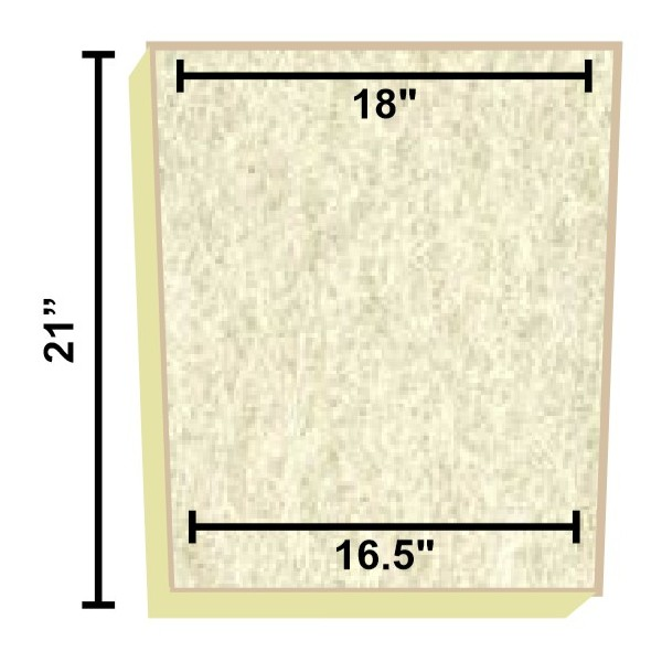 Replacement filter mat 18 x 16 5 x 21 for Pond filter mat