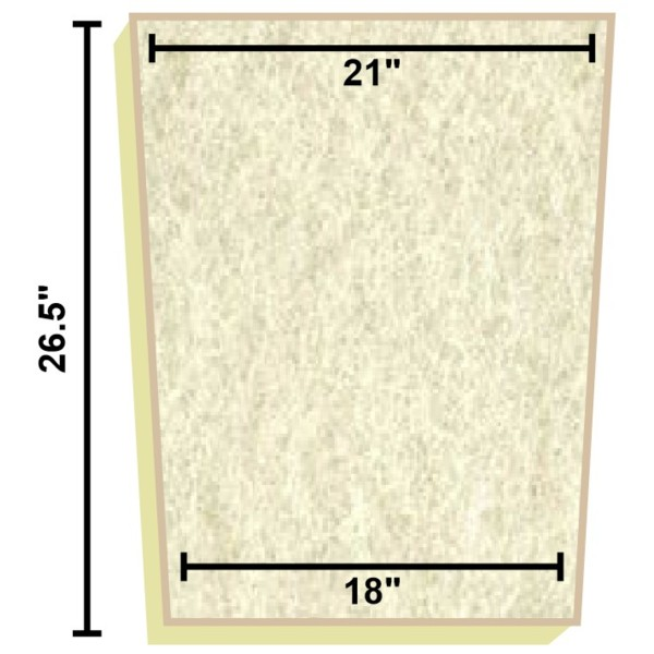 Replacement filter mat 21 x 18 x 26 5 matala filter for Pond filter mat