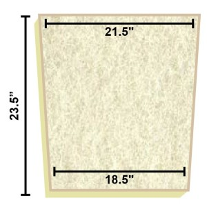 Replacement Filter Mat 21.5 x 18.5 x 23.5