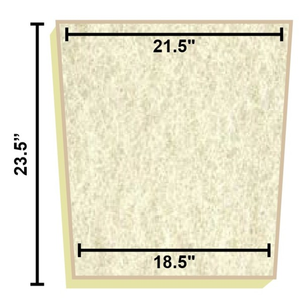 Replacement filter mat 21 5 x 18 5 x 23 5 for Pond filter mat