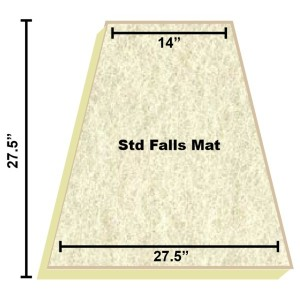 Replacement Filter Mat 14 x 27.5 x 27.5