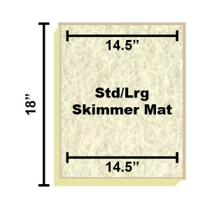 Replacement Filter Mat 14.5 x 14.5 x 18