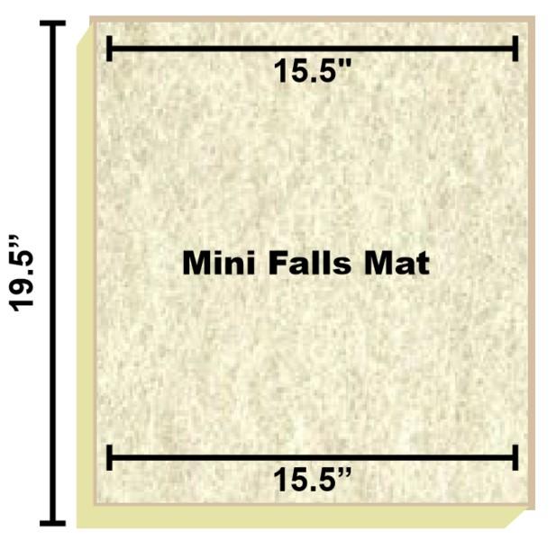 Replacement Filter Mat 15.5 x 15.5 x 19.5