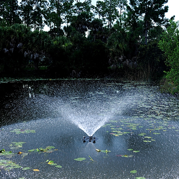 Pond Boss 1/2 HP Floating Fountain - Trumpet Fountain Nozzle