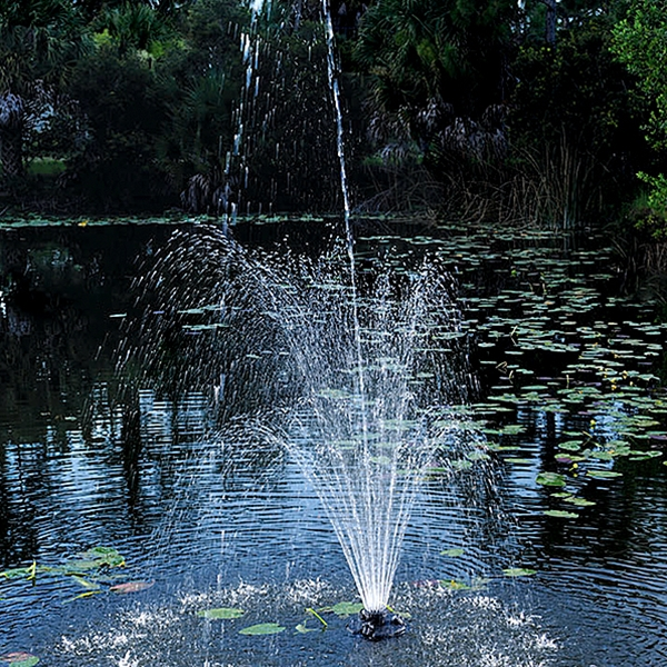 Pond Boss 1/4 HP Floating Fountain - 3-Tier Fountain Nozzle