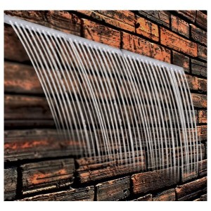 "Calais 12"" Rain Effect Acrylic Sheer Falls Waterfall Weir"