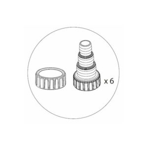 Aquascape UltraKlean 2000 3500 Replacement Fitting Kit