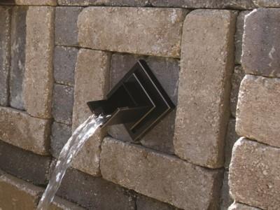 Atlantic Water Gardens Verona Brass Wall Spout ( In Wall)