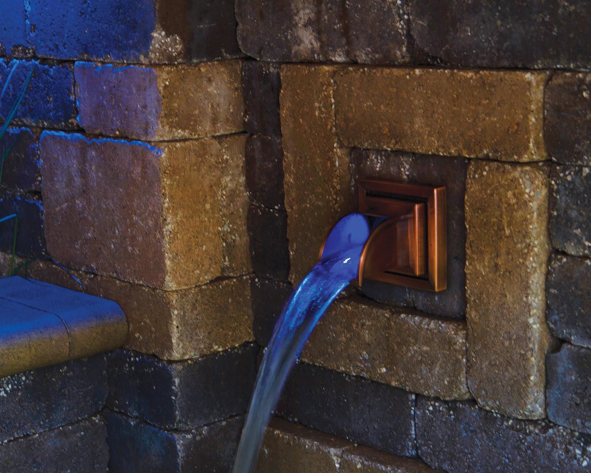 Atlantic Water Gardens Copper Finish Mantova Wall Spout