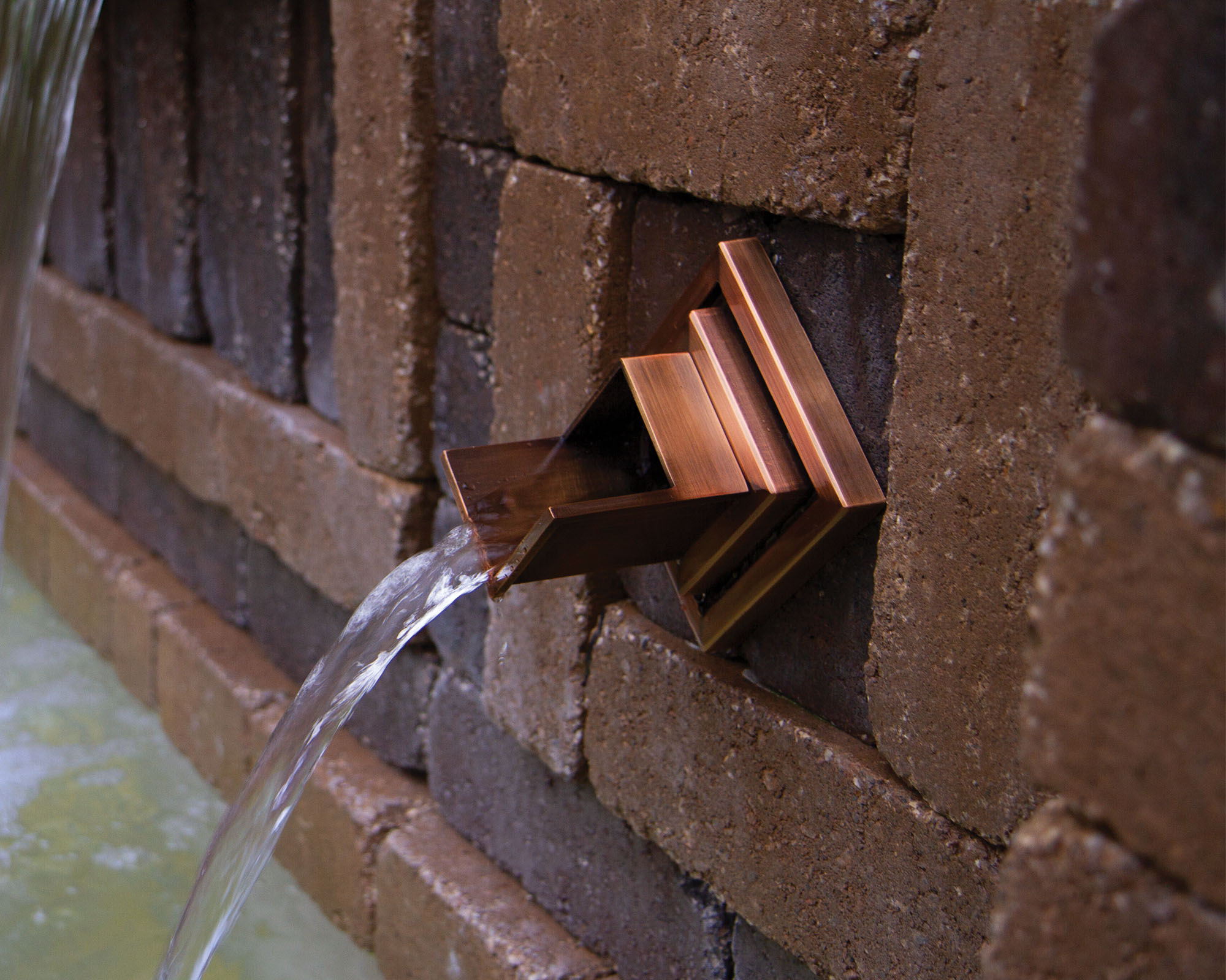 Atlantic Water Gardens Copper Finish Verona Wall Spout