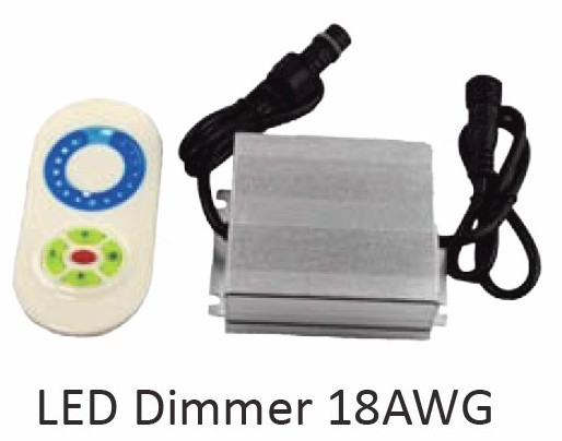 ProEco Products LED Dimmer – 12 V 24 V DC – 18 AWG – White LED Lights (LD-18AWG)