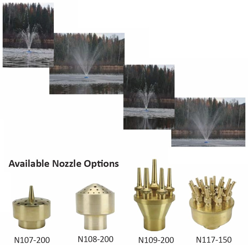ProEco Products FF-8000 Floating Fountain - Nozzle Options