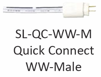 ProEco Products Tape Lights - Warm White - SL-QC-WW-M Male Quick Connect