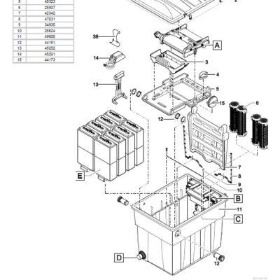 Oase BioTec Screenmatic 2 24000 Pond Filter - Parts Diagrams