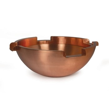 "Atlantic Water Gardens 26"" Round Copper Spillway Bowl - 6"" Spillways"